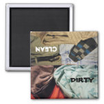 DIRTY- CLEAN Clothing Dishwasher Magnet