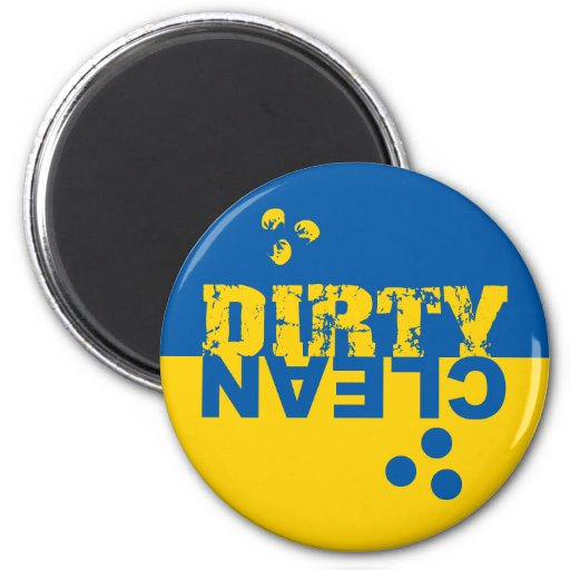 Dirty/Clean Dishwasher Magnet Blue and Yellow