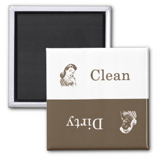 Dirty / Clean Dishwasher Magnet (Brown)