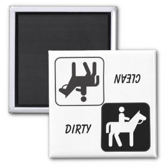 """""""DIRTY / CLEAN"""" Horse and Rider Dishwasher Magnet"""