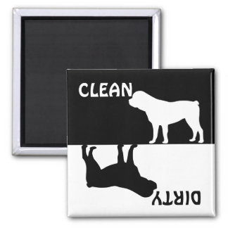 Dirty Clean Rottweiler dog dishwasher magnet