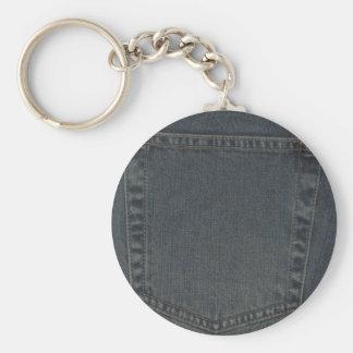 Dirty Denim Pocket Key Chain