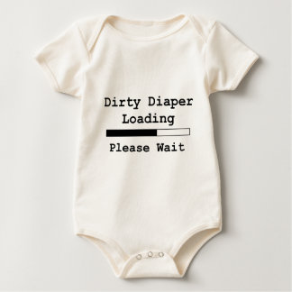 Dirty Diaper Loading... Please Wait Baby Bodysuit