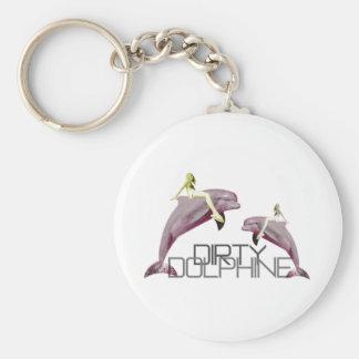 Dirty Dolphin Keychain