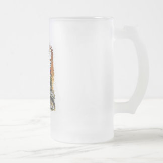 dirty girls frosted glass beer mug