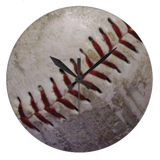 Dirty Grungy Baseball Wall Clock