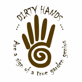 Dirty Hands Standing Photo Sculpture