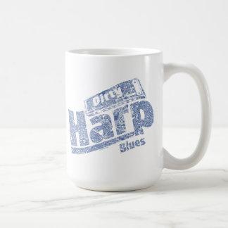 Dirty Harp Blues Classic White Coffee Mug