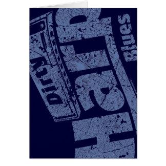 Dirty Harp Blues Greeting Card