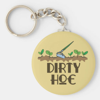 Dirty Hoe Basic Round Button Key Ring