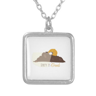 Dirty is Good Square Pendant Necklace