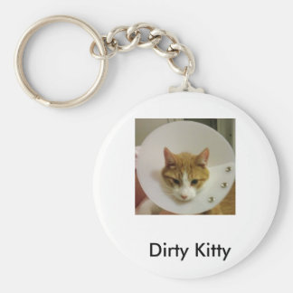 Dirty Kitty Basic Round Button Key Ring