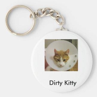 Dirty Kitty Key Ring