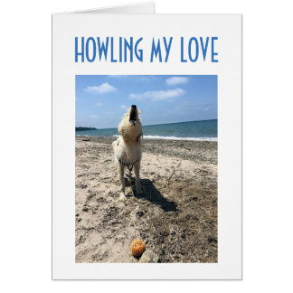 """DIRTY LOVING DOG HOWLS """"LOVE FOR YOU"""" GREETING CARD"""