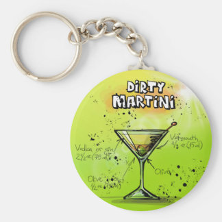 Dirty Martini - Cocktail Gift Basic Round Button Key Ring
