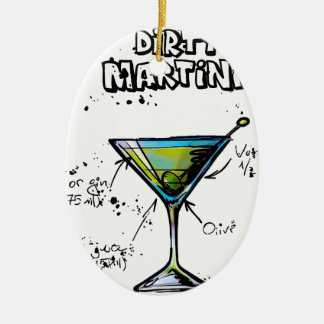 Dirty Martini Cocktail Recipe Christmas Ornament