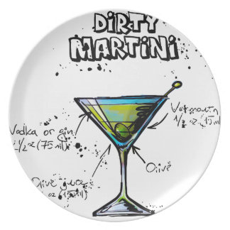 Dirty Martini Cocktail Recipe Plate