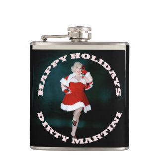 Dirty Martini Happy Holidays Flask