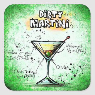 Dirty Martini Stickers