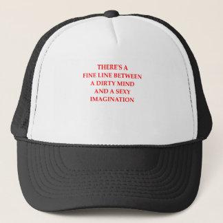 dirty mind trucker hat