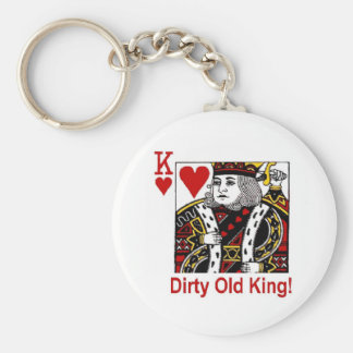 Dirty Old King of Hearts Keychain