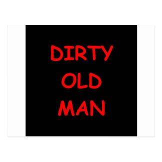 dirty old ,man postcard