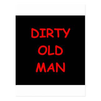 dirty old ,man postcards