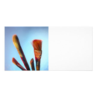 Dirty Old Paintbrushes Photo Greeting Card