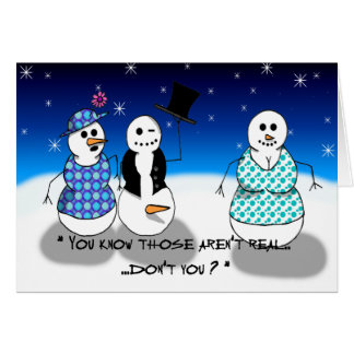 Dirty Old Snowman Card