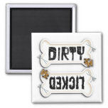 Dirty or licked dishwasher magnet for dog lovers