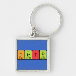Dirty periodic table name keyring key chain