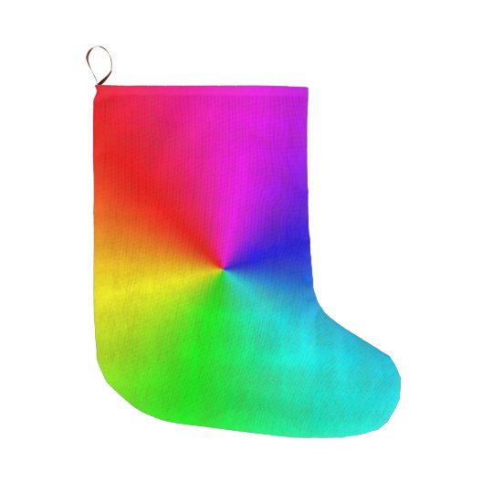 Dirty Rainbow Large Christmas Stocking