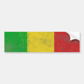 Dirty Rasta Colored Bars Bumper Sticker