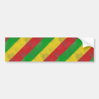 Dirty Rasta Colored Bars Bumper Stickers