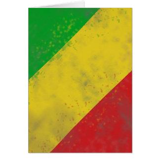 Dirty Rasta Colored Bars Greeting Card