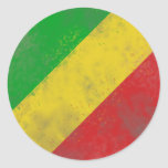 Dirty Rasta Coloured Bars Round Sticker