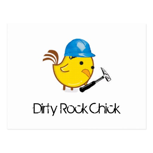 Dirty Rock Chick Postcards