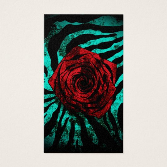Dirty Rose  Aqua Zebra Business Card