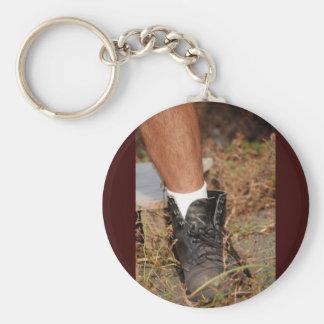 Dirty shose basic round button key ring