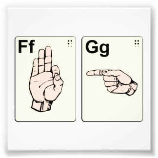 Dirty Sign Language Flash Cards Photograph