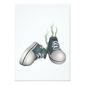 Dirty Sneakers 13 Cm X 18 Cm Invitation Card