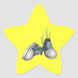 Dirty Sneakers Star Sticker