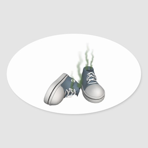 Dirty Sneakers Oval Stickers