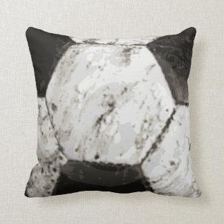 Dirty Soccer Ball Texture Cushion