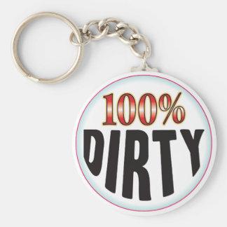 Dirty Tag Keychain