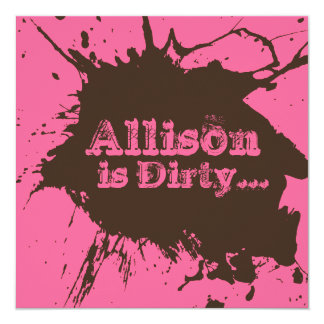 Dirty Thirty - 30th Birthday Party Invitation