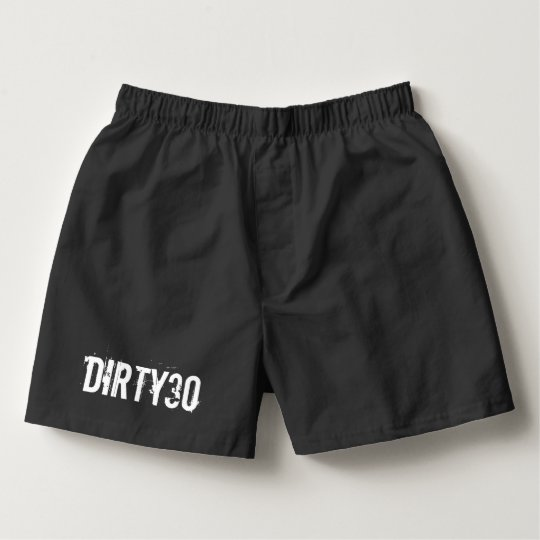 Dirty thirty boxer shorts for mens 30th Birthday