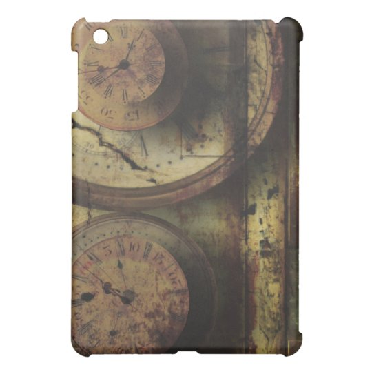 Dirty Timepiece Steampunk Clock Digital Collage iPad Mini