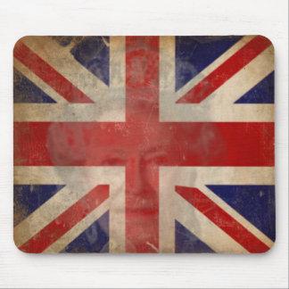 Dirty U.K. Flag Mousepad with Queen Elizabeth II