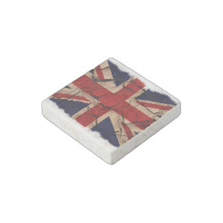 Dirty Vintage UK Union Jack Flag Stone Magnet